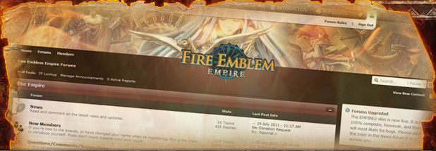 <span style='font-size: 22px; font-weight: bold; letter-spacing: -0.05em; line-height: 1em; font-family:arial;'>Fire Emblem Empire Forums:</span><br/>Visit our <a href='http://www.fireemblemempire.com/forums'>Fire Emblem Forums</a> and join our community in discussion!